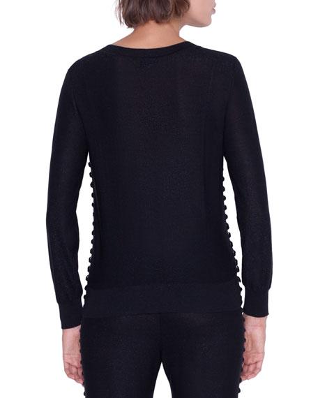 Akris Long-Sleeve Magic Form Stone Pullover