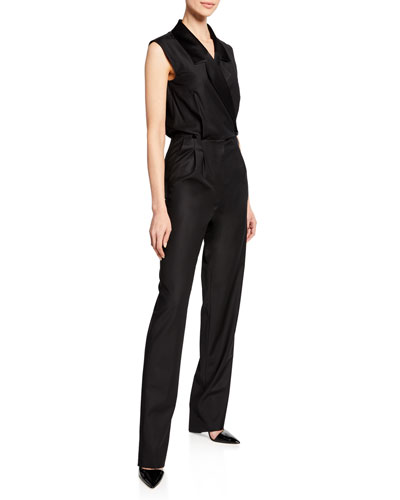 Narjisse Sleeveless Tux Jumpsuit