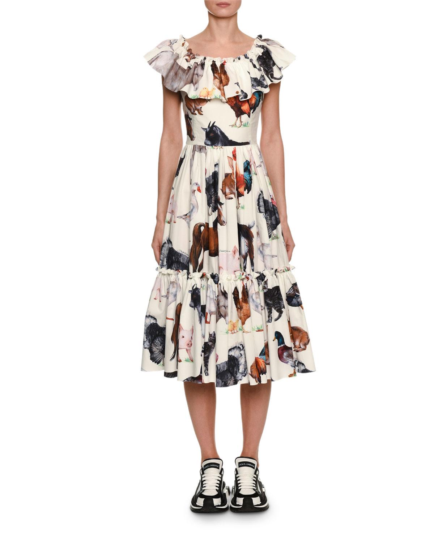 6c077ac5 Dolce & Gabbana Sleeveless Farm Animal Print Cotton | Neiman Marcus