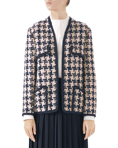 Houndstooth Tweed Jacket