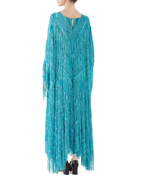 Gucci Oversized Fringe Gown