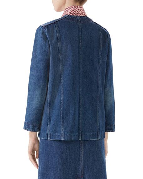 Gucci Oversized Washed Denim Jacket