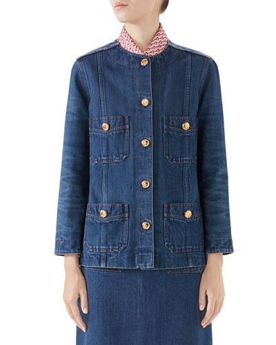 Oversized Washed Denim Jacket