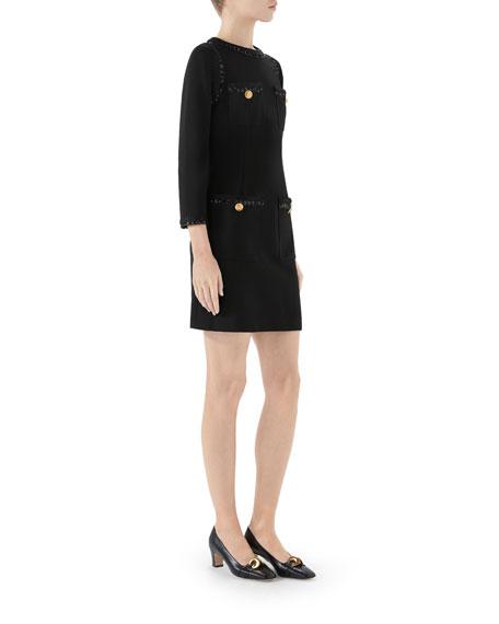 Gucci Compact Jersey Dress w/ Sequin Trim