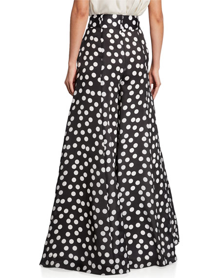 Carolina Herrera Polka Dot Silk Palazzo Pants
