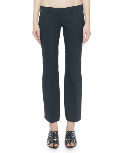 Flat Front Lace-Up Kickback Pants