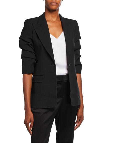 Michael Kors Collection Crushed Sleeve Blazer
