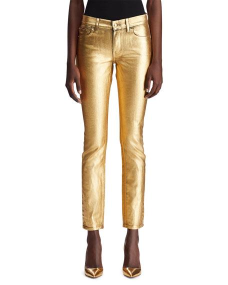 Ralph Lauren Collection 160 Slim Metallic Denim Jeans