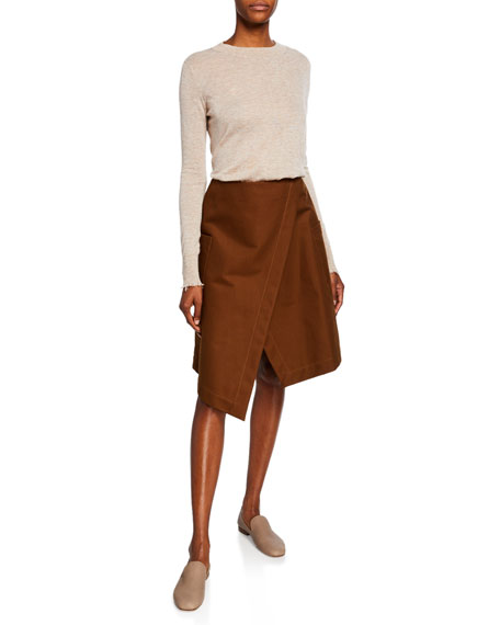 Co Wrapped A-line Cotton Skirt