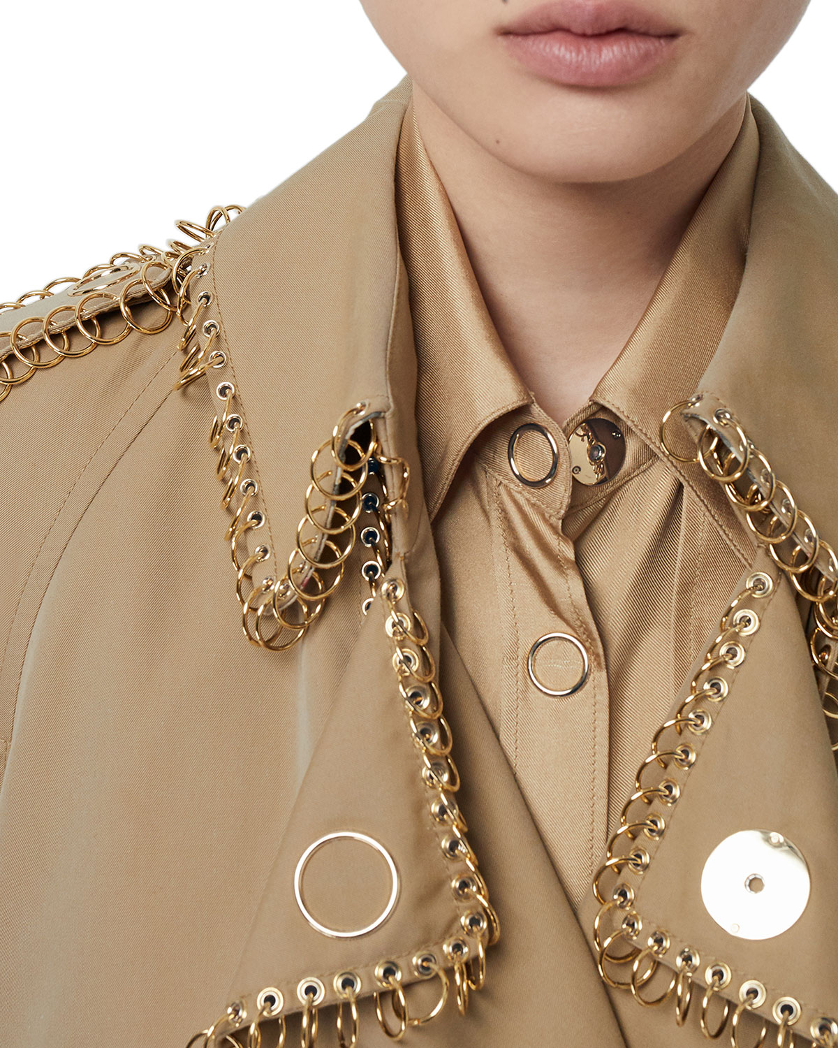 Ring Trimmed Double Breasted Trench Coat by Burberry