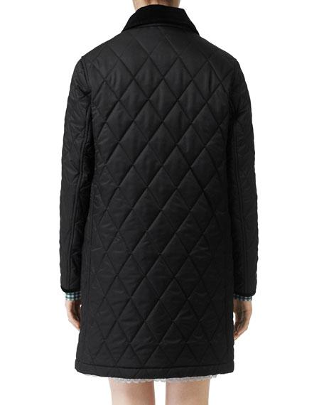 Burberry Dereham Baughton Diamond-Quilted Coat