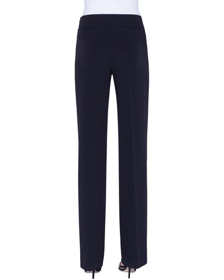 Akris Carla Silk-Crepe Straight-Leg Pants