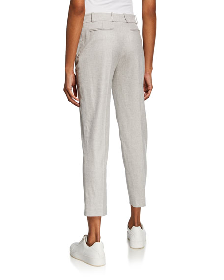 Loro Piana Derk Slim-Leg Wool Flannel Trousers