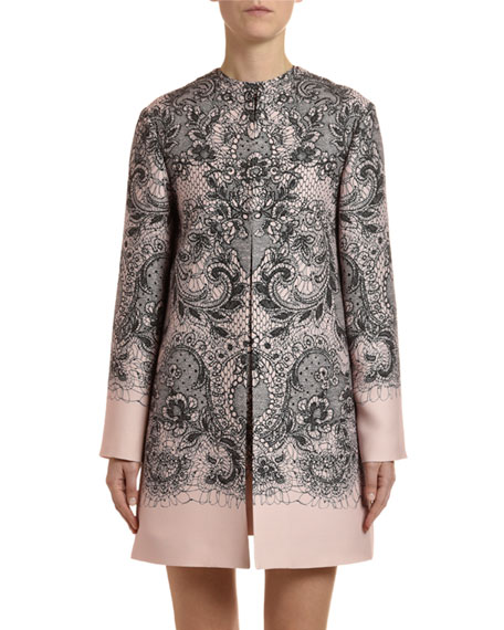 Valentino Lace Crepe Couture Coat