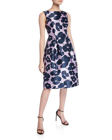 Lela Rose Betsy Full-Skirt Sheath Dress