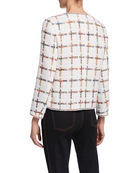 Escada Windowpane Tweed Jacket