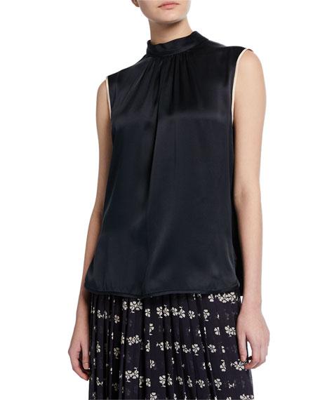 Maxmara Orel Sleeveless Two-Tone Silk Blouse