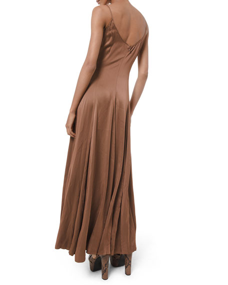 Image 2 of 2: Michael Kors Collection Crushed Satin Charmeuse Midi Dress