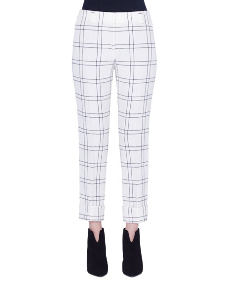 Akris Maxima Conical Wool Crepe Pants
