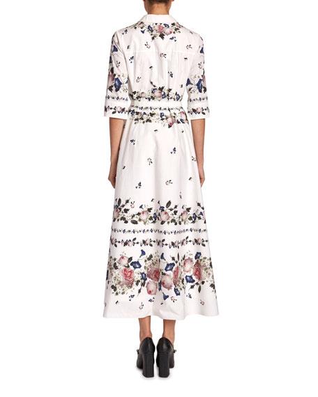 Erdem Kasia Floral Cotton Poplin Shirtdress