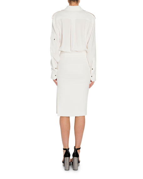 Image 2 of 4: TOM FORD Patch Pocket Front Dress