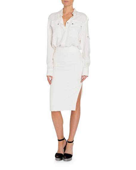 Image 3 of 4: TOM FORD Patch Pocket Front Dress