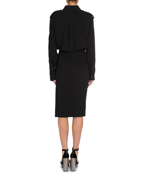 Image 4 of 4: TOM FORD Patch Pocket Front Dress