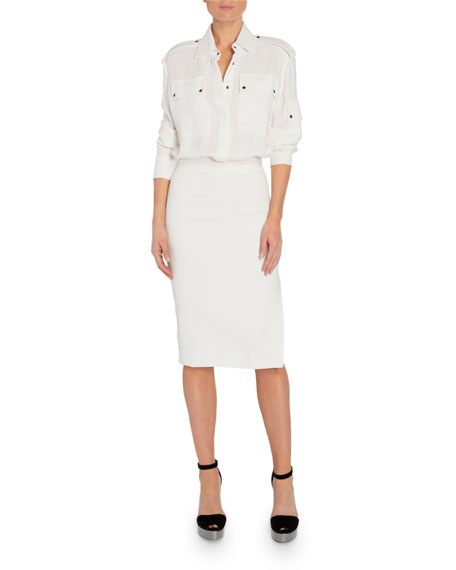 Image 1 of 4: TOM FORD Patch Pocket Front Dress