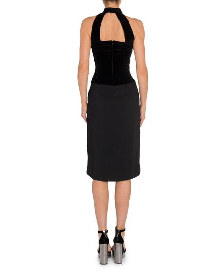 TOM FORD Velvet-Bodice Halter Dress