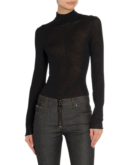 TOM FORD Mock-Neck Long-Sleeve Bodysuit