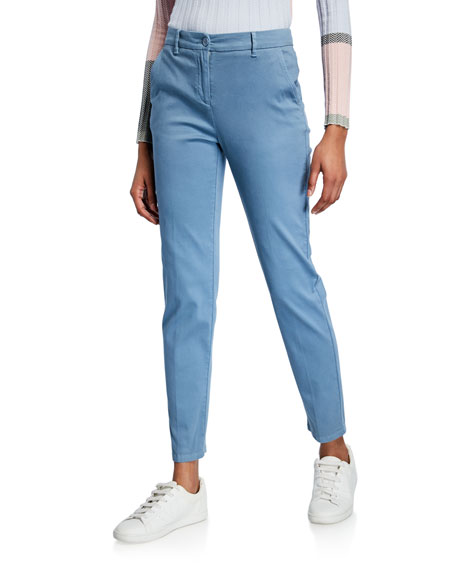 Emporio Armani Casual Fitted Stretch-Cotton Pants