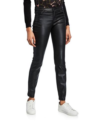 Waxed 5-Pocket Skinny Jeans