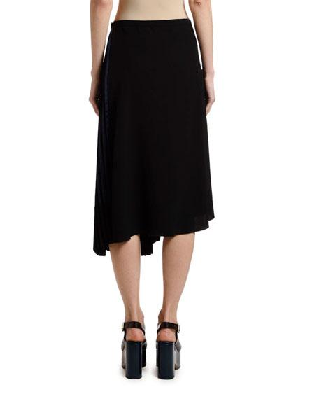 Marni Plisse Satin Asymmetric Skirt