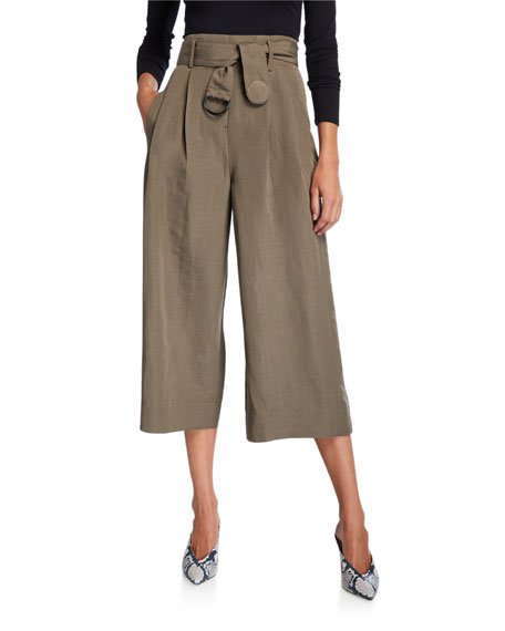 Akris punto Fiorella Cropped Wide-Leg Pants