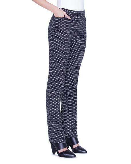 Akris punto Francoise Diamond Jacquard Pants