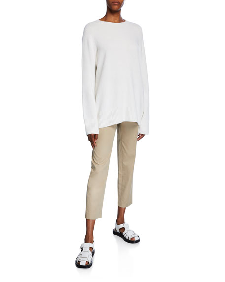 THE ROW Clark Cotton Slim-Leg Ankle Pants
