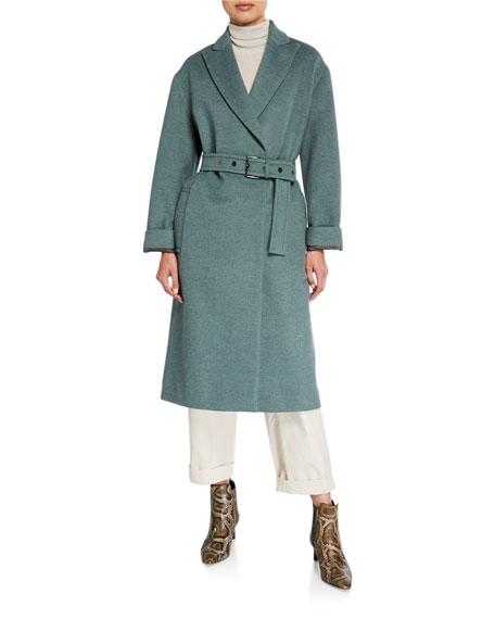 Brunello Cucinelli Melton Wrap Coat