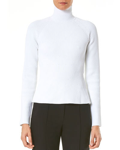 Raglan-Sleeve Turtleneck Sweater