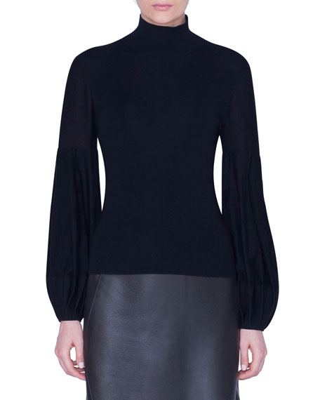 Akris Full-Sleeve Turtleneck Sweater