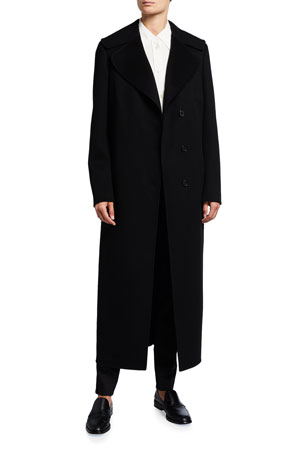 Akris Cashmere Midi Length Coat