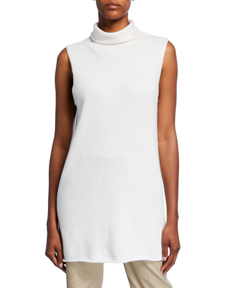 THE ROW Leona Sleeveless Funnel-Neck Sweater