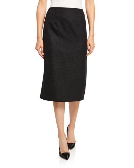 Oscar de la Renta Wool Pencil Skirt