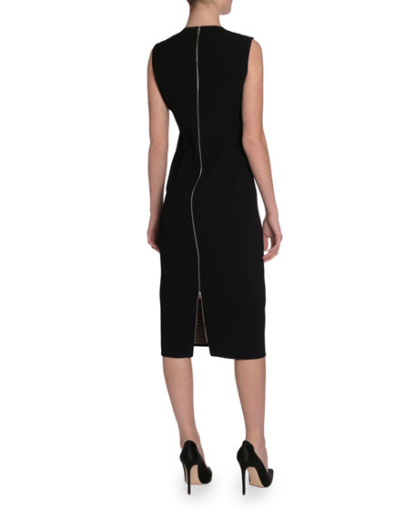 Victoria Beckham Checked Twill Midi Dress