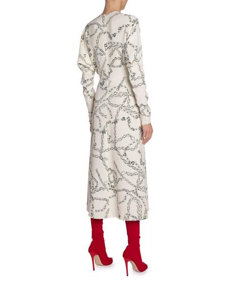 Victoria Beckham Chain Print Jersey Dress