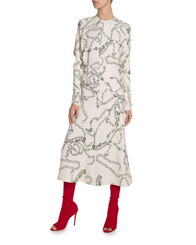 Chain Print Jersey Dress by Victoria Beckham