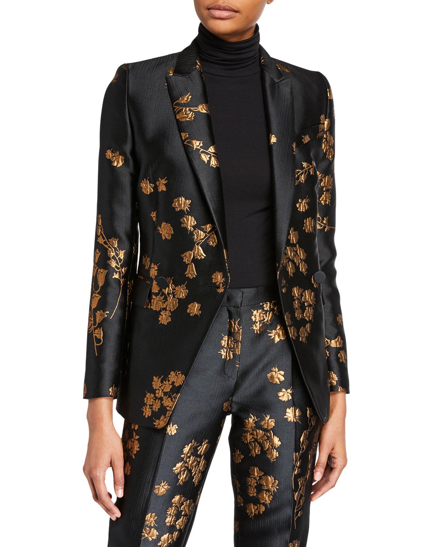 Begasha Floral Slim Blazer by Escada