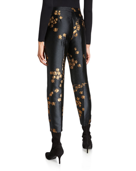Escada Talaranto Embroidered Slim-Leg Pants