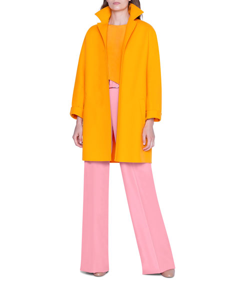 Akris Wool Open-Front Coat