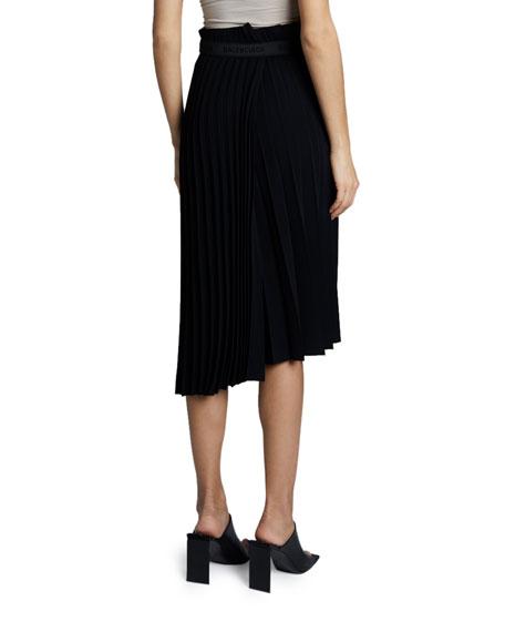 Balenciaga Plisse Velvety Crepe Skirt