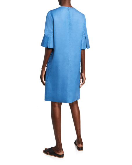 Partow Glory Linen Sheath Dress
